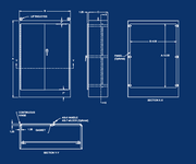 NEMA 12 Double Door Freestanding Enclosure - Engineering Drawing